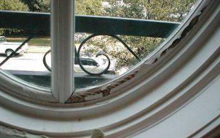 window frame in disrepair