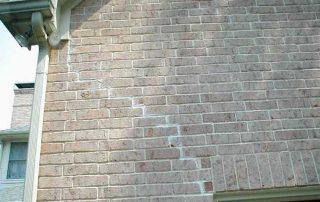 Evidence of brick repair