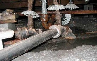 leaking and rusted piping