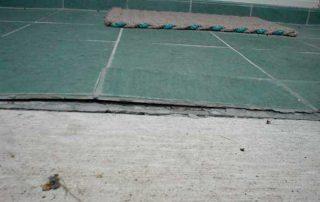 Warped tile flooring
